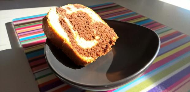 Gâteau marbré au chocolat et vanille